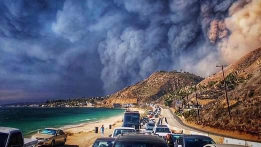 Пожежа в Каліфорнії: Леді Гагу, Беллу Хадід та інших зірок терміново евакуювали