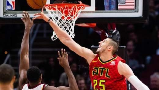 """Українець Лень провів найгірший матч за """"Атланту"""" в НБА"""