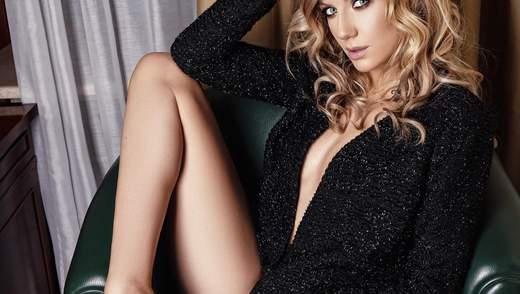 Піджак на голе тіло і спокусливе боді: Леся Нікітюк знялася для чоловічого журналу XXL