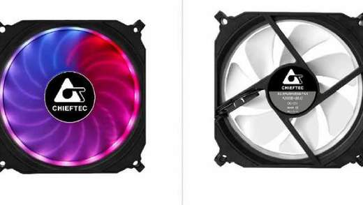Chieftec випустила вентилятори з кольоровим підсвічуванням
