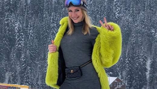 Леся Нікітюк показала, як проводить зимовий відпочинок у Карпатах: яскраві фото