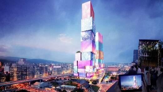 Интерактивные башни-близнецы появятся в Тайване: как будет выглядеть азиатский Times Square