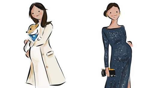 Художница воспроизвела стильные выходы беременной Меган Маркл: очаровательные кадры