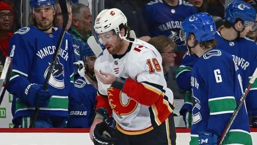 Канадскому хоккеисту выбили четыре зуба в матче НХЛ: видео