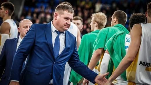 Тренер збірної України з баскетболу подав у відставку
