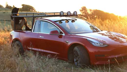 Показали первый пикап компании Tesla – Truckla: видео