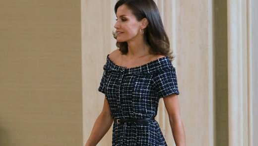 В платье за 800 гривен: испанская королева Летиция ошеломила стильным образом