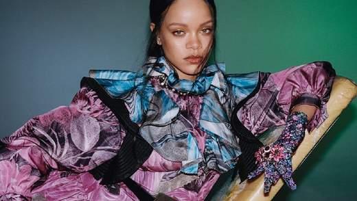 В загадочных образах: Рианна снялась для гонконгского Vogue