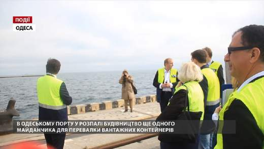 В Одесском порту в разгаре строительство еще одной площадки для перевалки грузовых контейнеров
