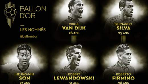 """France Football оголосив номінантів на """"Золотий м'яч"""""""