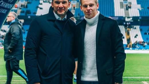 Легенды: Зинченко взял интервью у Шевченко в Манчестере – фото