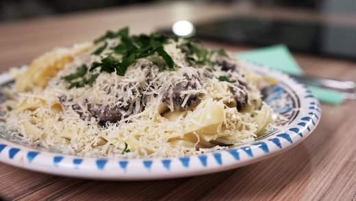 Фетучини в сметанно-грибном соусе: рецепт простой и несравненной блюда