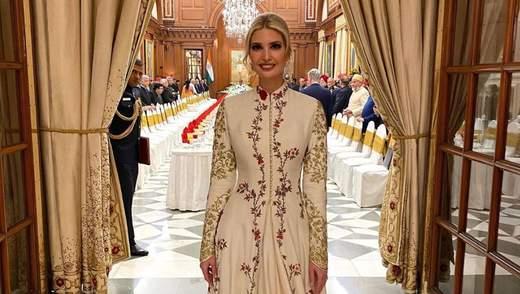 Мелания и Иванка Трамп на приеме в Индии: яркие фото