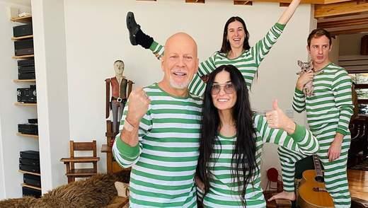 Брюс Уиллис проводит карантин с экс-супругой Деми Мур: дочь пары объяснила решение отца