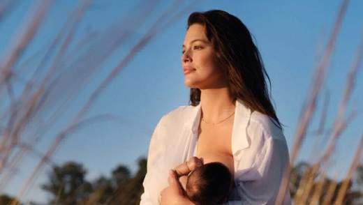 Эшли Грэм впервые после родов снялась в невероятной фотосессии с сыном, которую сделал ее муж