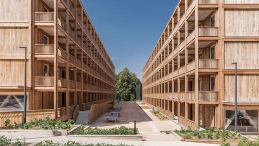 Повністю дерев'яна багатоповерхівка: в Женеві з'явився масштабний екологічний проєкт – фото