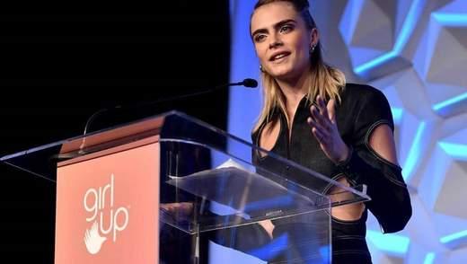 Британская модель Кара Делевинь примет участие в документальном сериале о сексуальности