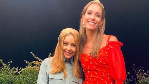 У стильних комбінезонах: Катя Осадча побувала в гостях у Тіни Кароль – фото