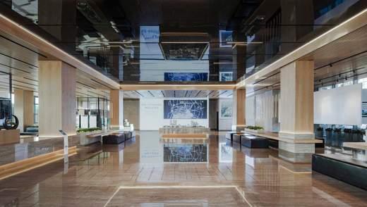 Скляні стіни на кнопках і живі дерева: українці створили дизайн сучасного центру в Китаї – фото