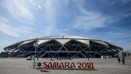 """На російському стадіоні """"Самара арена"""" тріснули дві несучі балки, його побудували у 2018 році"""