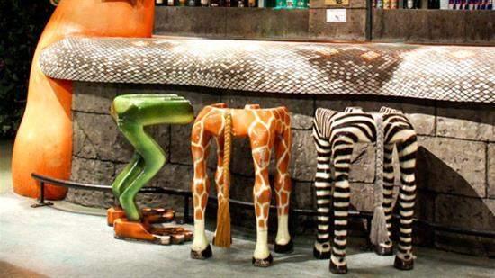 Оригинальный декор в известной сети кафе