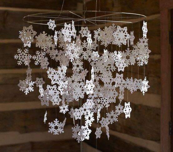 Гірлянда зі сніжинок