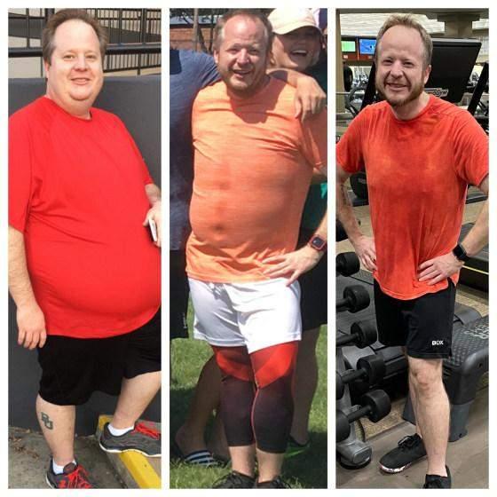 На першому фото – Ендрю у 2017 році з вагою майже 160 кілограмів