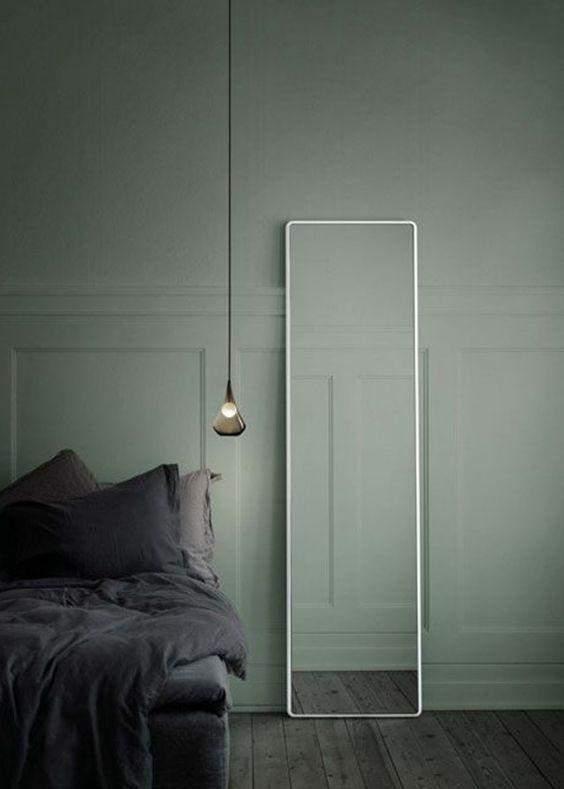 Спальня кольору оливки
