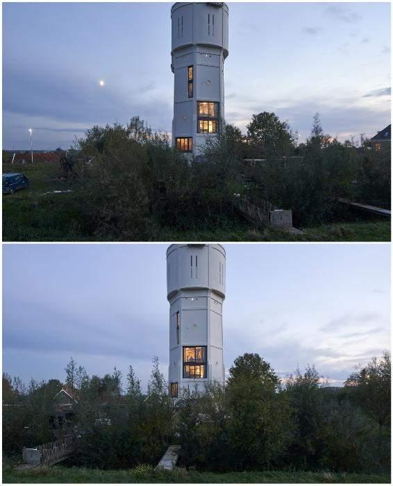 Водонапорная башня, ставшая жильем