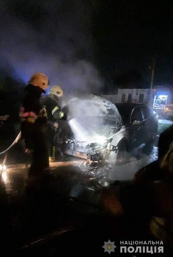 Пожежа Авто поліція фото Підпал Харків Кримінал