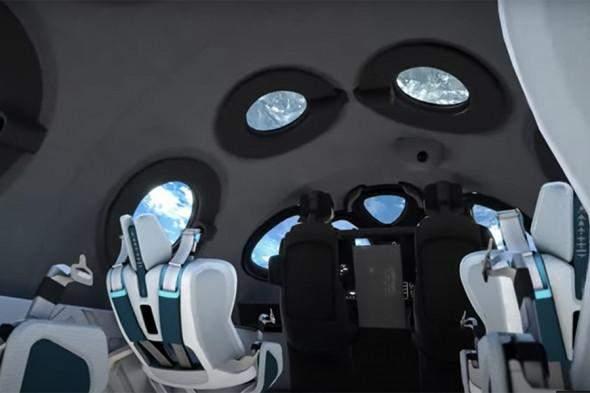 Virgin Galactic показала інтер'єр кабіни космоплана
