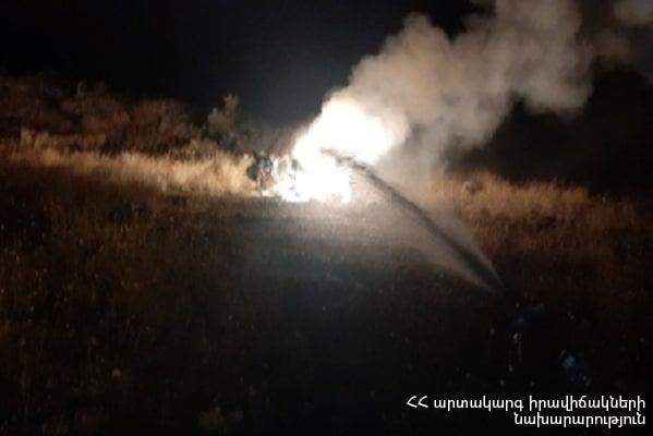 Вертоліт палає Азербайджан збив вертоліт Росії