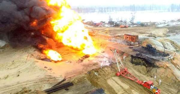 пожар на месторождении в хмао размере