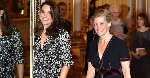 fa892d5082473f Герцогиня Кембриджська Кейт Міддлтон та графиня Софі Уессекська, дружина  принца Едварда організували в Букінгемському палаці модний прийом  Commonwealth ...