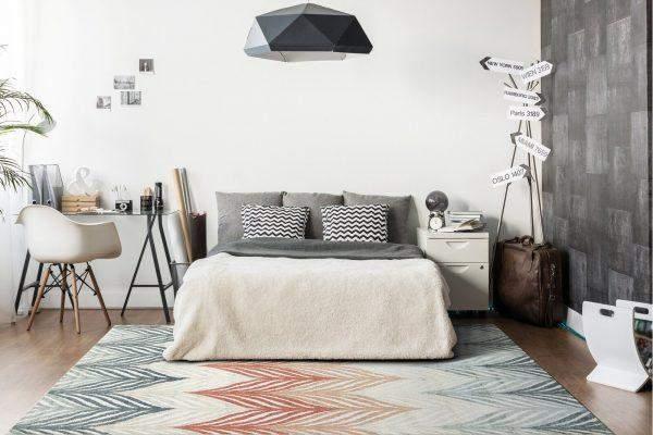Ковер для спальни в скандинавском стиле