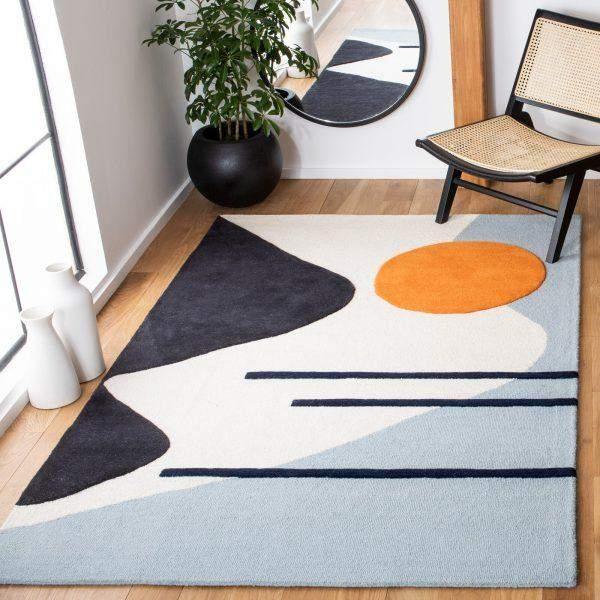 Современный абстрактный ковер в скандинавском стиле
