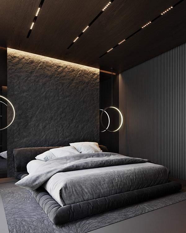 Чорний колір у спальні