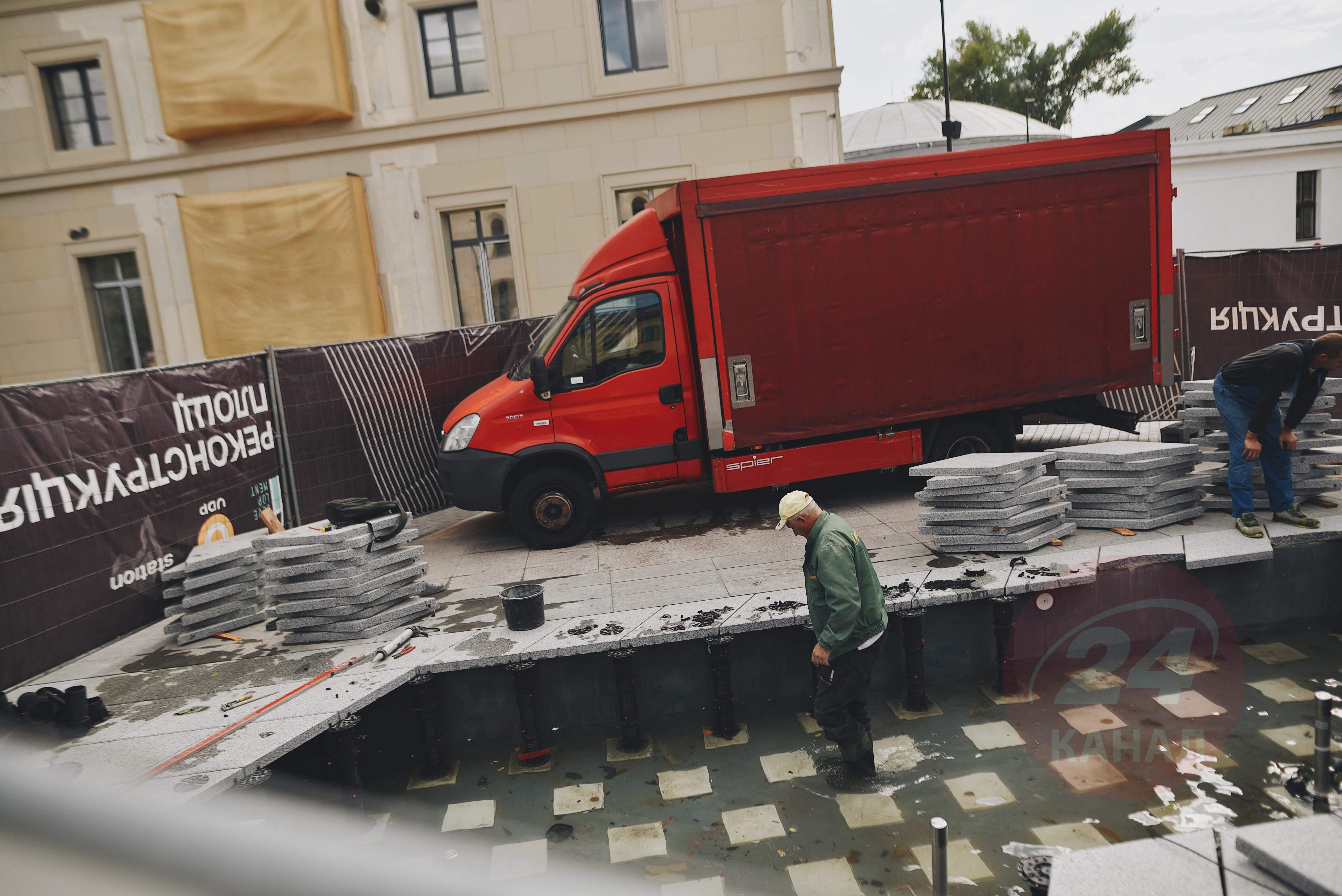 Вантажівка Влетіла Знищила фонтан 2 вересня 2021