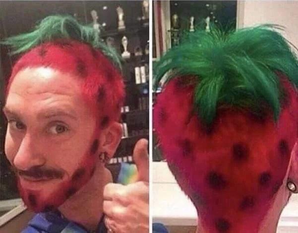 Зачіска полуниця