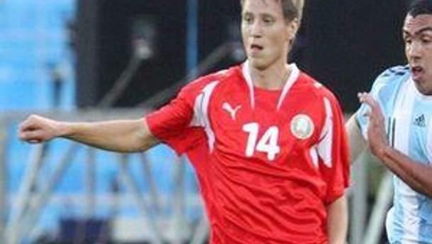 Антон Путіло - гравець збірної Білорусі
