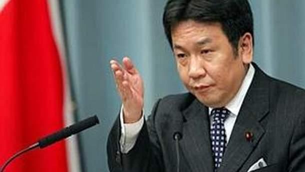 Генеральный секретарь японского правительства Юкио Едано