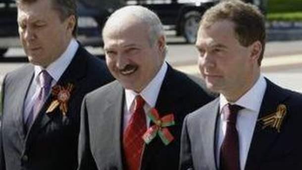 Лукашенко, Янукович и Медведев - три главы государств