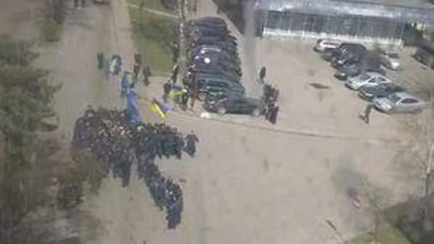 Блокування пікетувальників у Львові