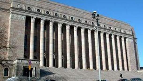 Здание парламента в Финляндии