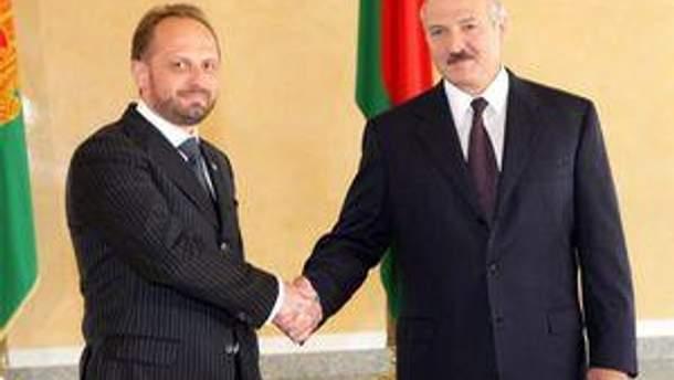 Роман Бессмертный и Александр Лукашенко