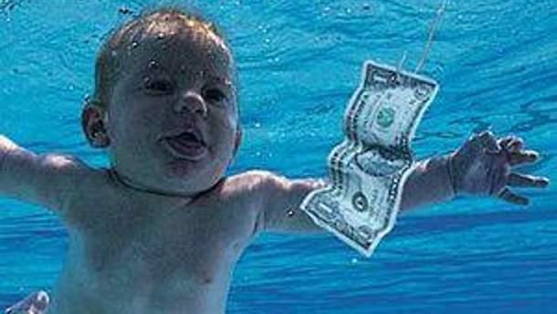 Фрагмент обложки альбома Nevermind