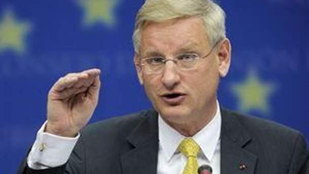 Министр иностранных дел Швеции Карл Бильдт