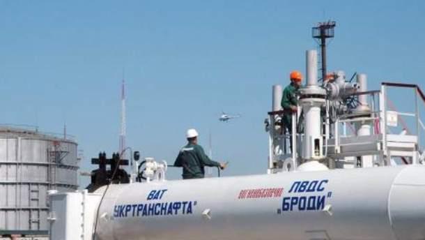 Украина сократила транспортировку нефти
