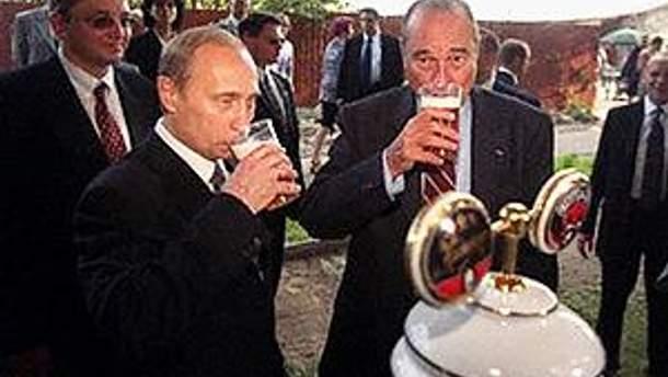 Владимир Путин и Герхард Шредер
