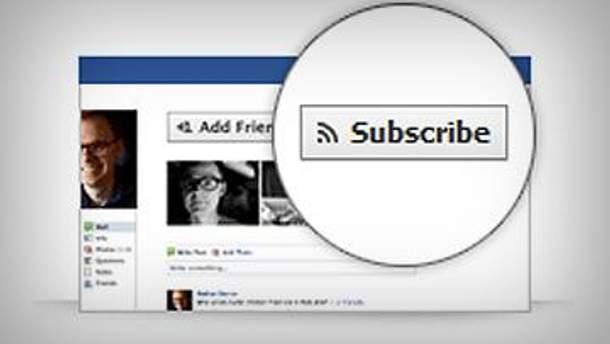 Subscribe - оновлення від Facebook